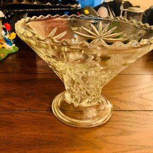 vintage anchor hocking star of david vase bowl